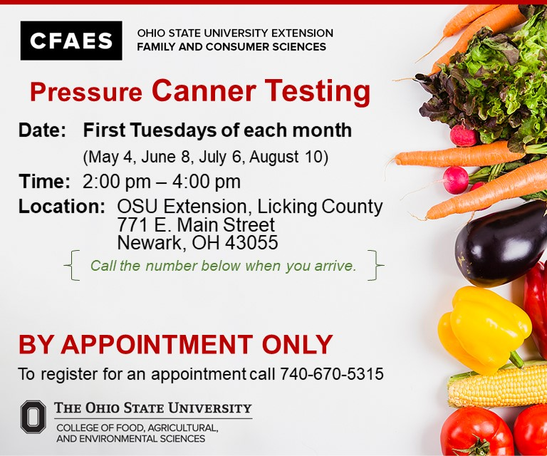 Pressure Canner Testing Information