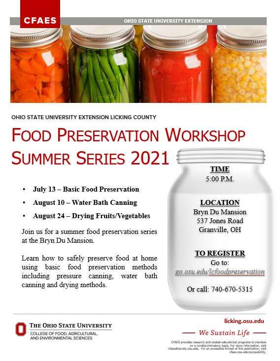 Food Preservation Workshop 2021